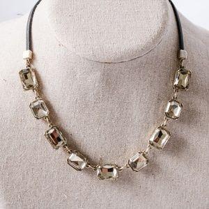 Stella&Dot - Leather Jeweled Necklace